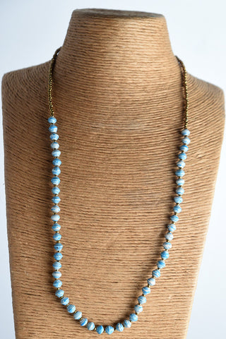 Namakula Single Necklace (long) Gold Beads