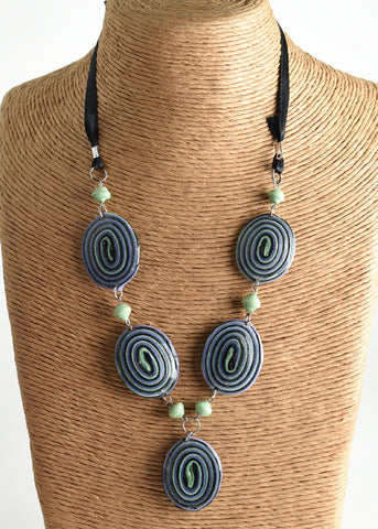 Spiral Ribbon Necklace