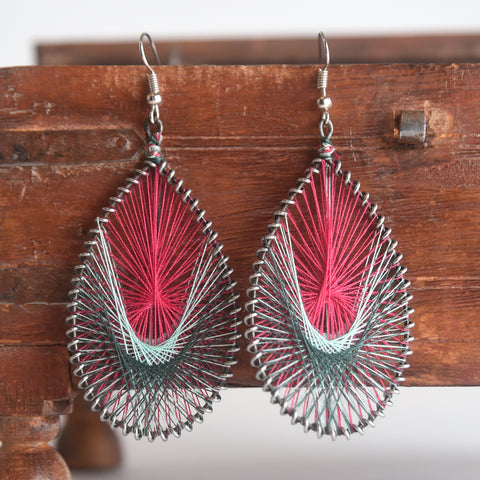 Hand Threaded Earrings