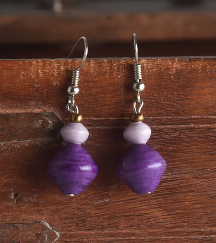 Small Two Bead Earring