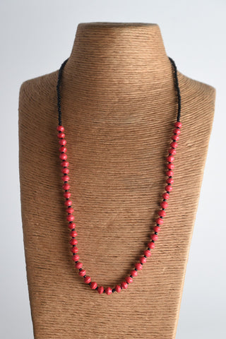 Namakula Single Necklace (long) Black Beads