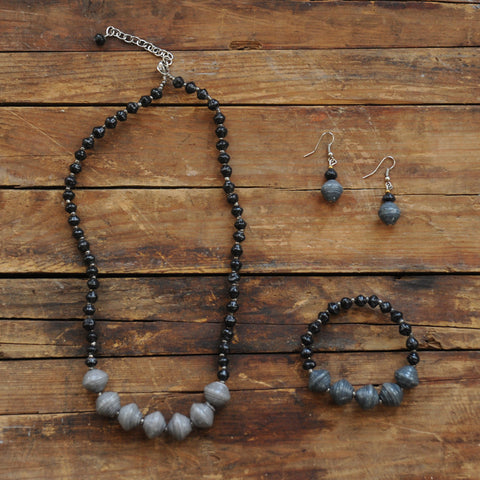 Two Tone Jewelry Set