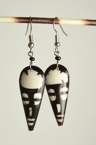 Figural Bone Earrings