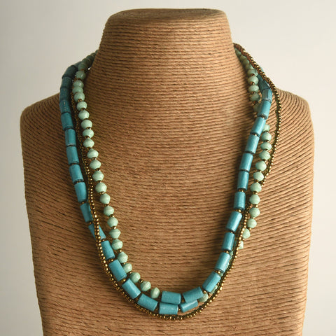 Marahaba Triple Strand Necklace