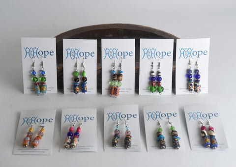 Set of 10 Trade Bead Earrings