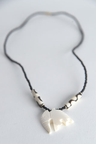 Figural Bone Necklace