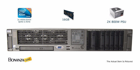 HP Proliant DL 380 G5 - 2x Intel Xeon E5420 2.5GHz, 16GB RAM, NO HDD, 391835-B21 - Bonanza Deals