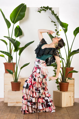 Flamenco dance skirt and top  |  Falda baile flamenco y blusa
