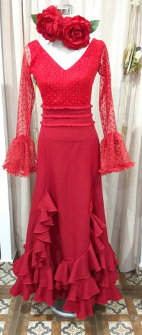 Flamenco dance skirt |  Falda baile flamenco