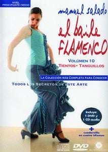 "Manuel Salado: Flamenco Dance - Intermediate Level Tientos y Tanguillos(DVD/CD) |  Manuel Salado El baile flamenco ""Nivel Intermedio"" Tientos y Tanguillos(DVD/CD)"
