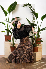 Flamenco dance skirt  |  Falda baile flamenco estampada