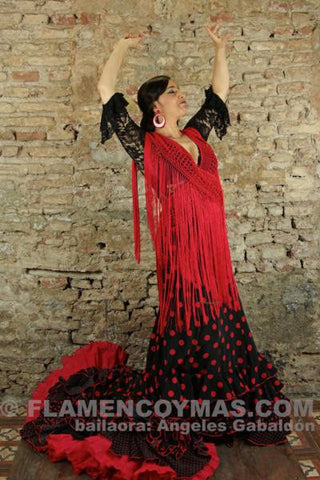 Flamenco shawl-Silk strip | Mantoncillo flamenco-Tira de flecos de seda natural