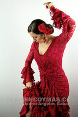Flamenco dance dress Farruca Model |  Vestido baile flamenco Encaje Modelo Farruca