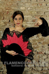 "Flamenco Dance Fan ""Bicolor Blon"" 