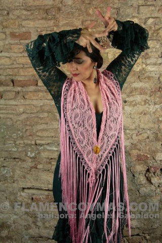 Flamenco shawl-Silk  | Mantoncillo flamenco de encaje y seda natural