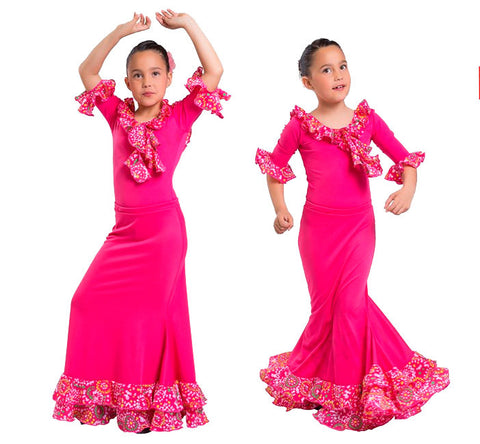 Flamenco dance skirt and blouse girls |  Conjunto Baile Flamenco Niña