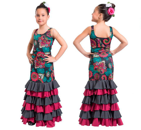 Flamenco dance skirt and blouse girls |  Conjuntos Baile Flamenco Niña