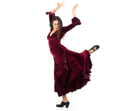 Flamenco dance dress Model Velvet |  Vestido baile flamenco Modelo Terciopelo