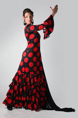 Flamenco dance dress Lunares Model |  Vestido baile flamenco Modelo Lunares