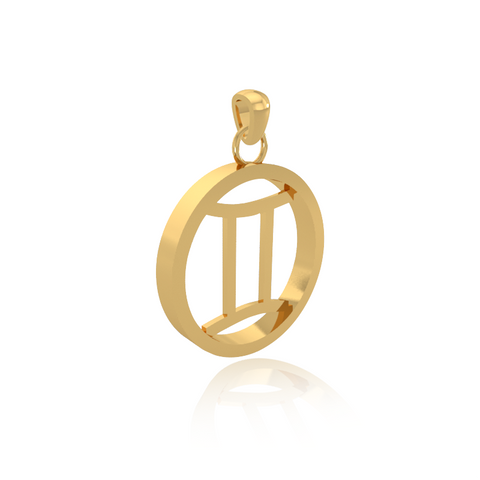 sign jewelry dp com amazon high gemini charm necklace zodiac gold polish yellow pendant