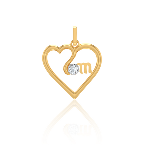 Heart in Heart Mom Pendant