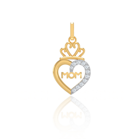 Queen Heart Mom Pendant