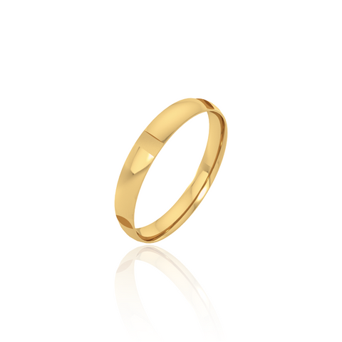 Plain Gold Wedding Band Bling Element