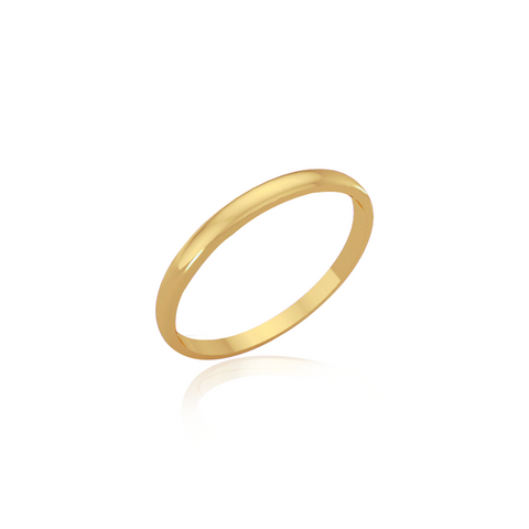 Classic wedding band - High dome (2mm)