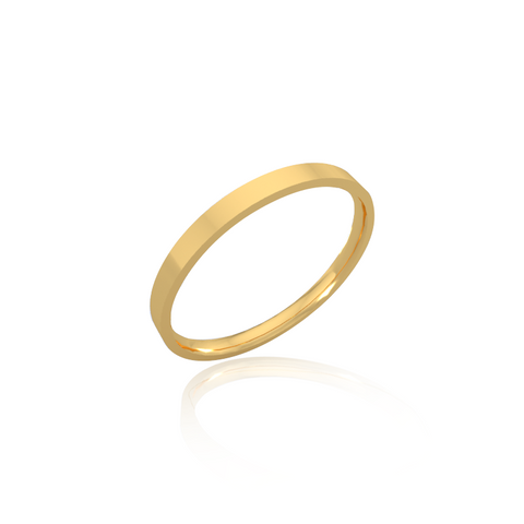 Classic wedding band - Flat (2mm)