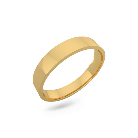 Classic wedding band - Flat (4mm)