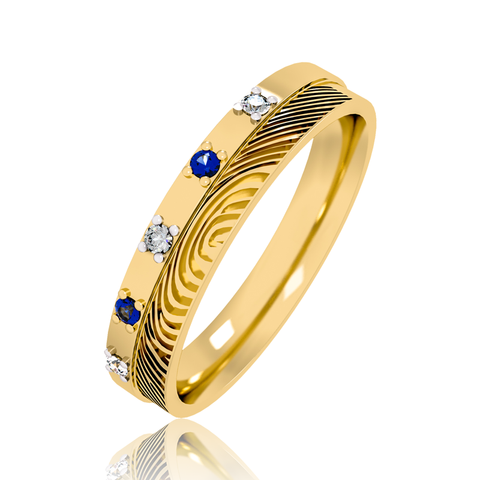 Alice Gemstone Wedding band for Her