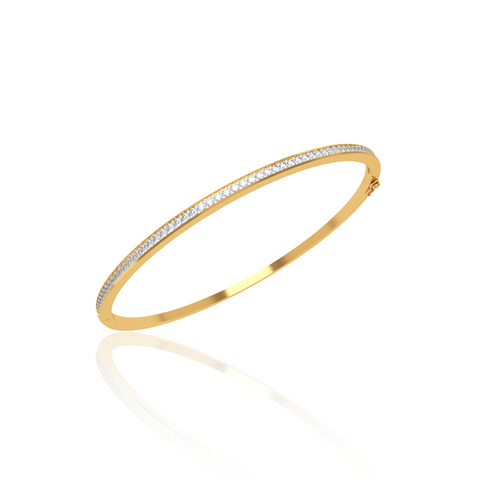 round b diamond single white bangle gold bangles