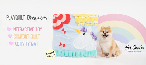 PlayQuilt Dreamers - Interactive Toy Relieves Dog Boredom
