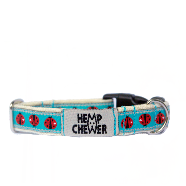 Hempchewer Lady Bugs 15mm Collar