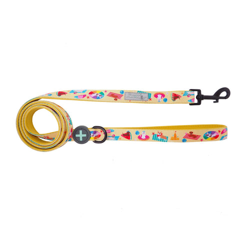 Moo + Twig Two-Faced Neoprene Handle Leash - Beach Bums