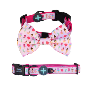 Moo+Twig DOG COLLAR with Bow Tie - Sweet Treat