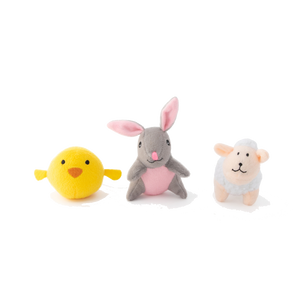 Zippypaws Miniz 3-Pack Easter Friends
