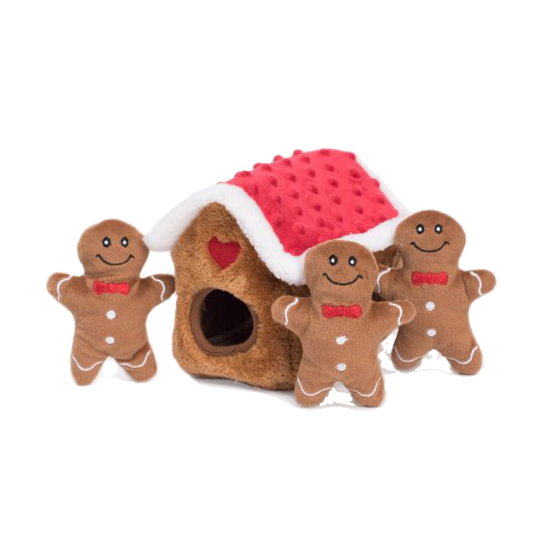 Zippypaws Holiday Burrow - Gingerbread House