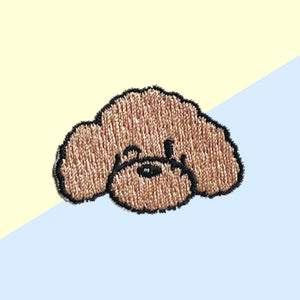 Hey Cuzzies Maltipoo Iron On Patch