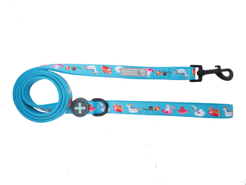 Moo + Twig Two-Faced Neoprene Handle Leash - Pool Pawty