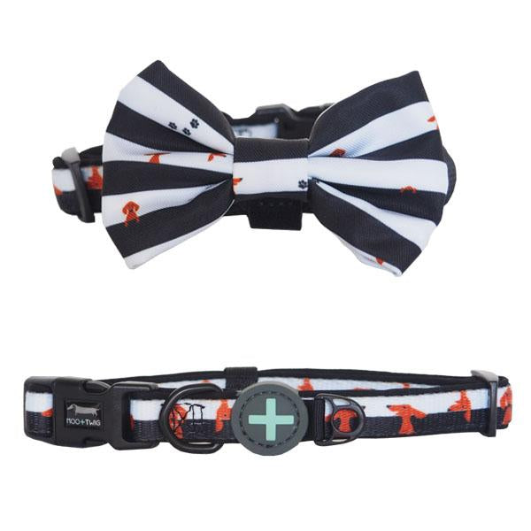 Moo+Twig DOG COLLAR with Bow Tie - Peek-A-Moo