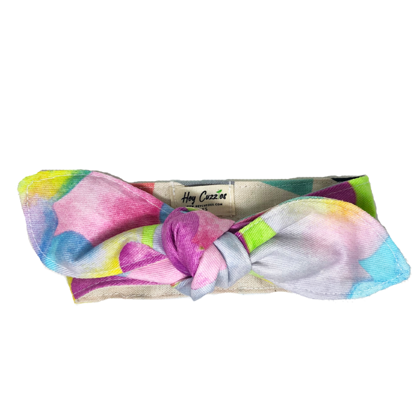 Hey Cuzzies Reversible Scarf - Rainbow Cotton