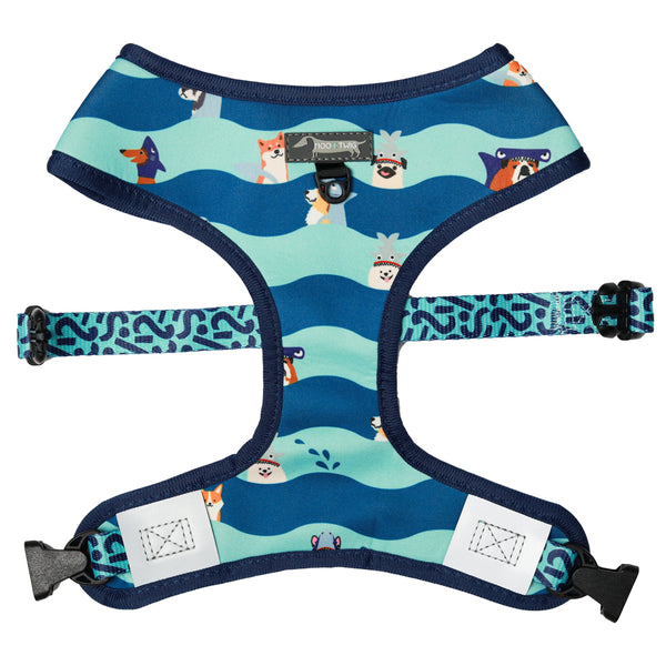 Moo+Twig Reversible Harness - Bark Shark