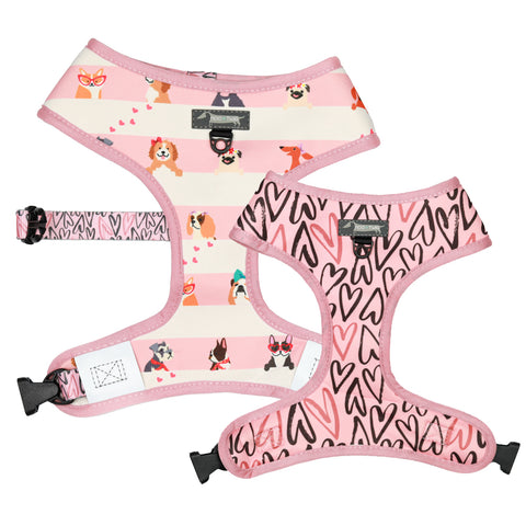 Moo+Twig Reversible Harness - Puppy Love