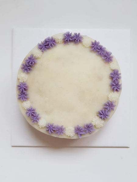 MyCuzziesBakery Floral Two-Toned Cake in Lavender (Custom baked product)