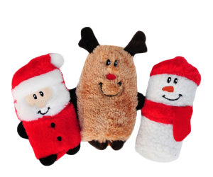 Zippypaws Holiday Squeakie Buddies - Snowman