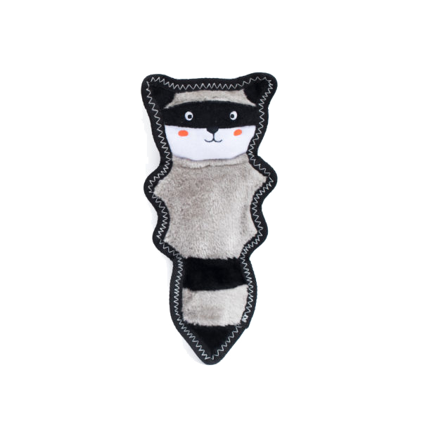 Zippypaws Z-Stitch Skinny Peltz - Raccoon