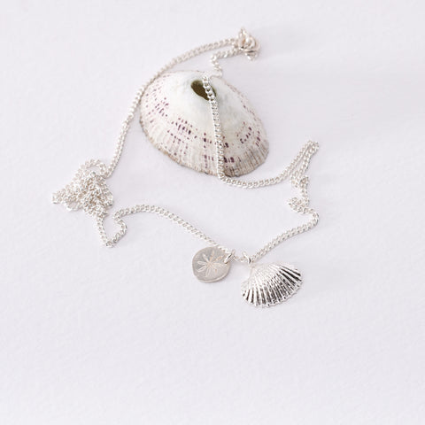 Scallop Shaped Shell Necklace
