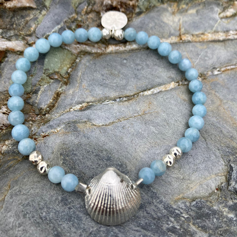 Bantham Shell on Semi Precious Stones Bracelet