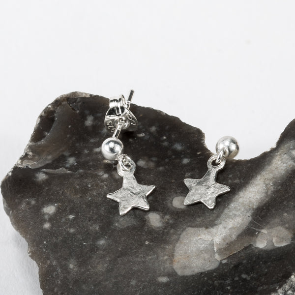 Tiny Hear Star Stud Earrings